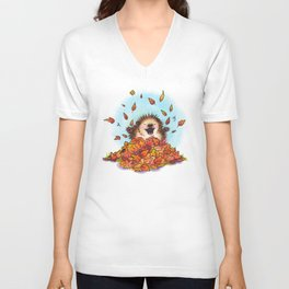 Fall Hedgie 2 Unisex V-Neck