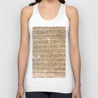 egypt Tank Tops featuring Egypt Hieroglyphs by Manuela Mishkova