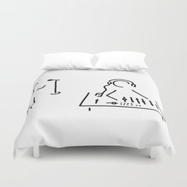 sound engineer studio admission mixing writing desk Duvet Cover