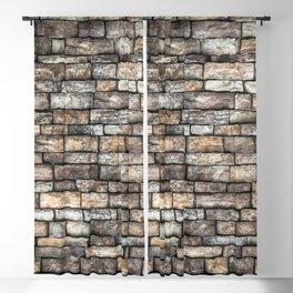Stone Wall Slabwork in Grey Beige Granite Blackout Curtain