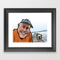 Bulldog on the Dock Framed Art Print