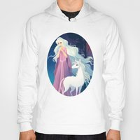 the last unicorn Hoodies featuring The Last Unicorn by Tami Wicinas