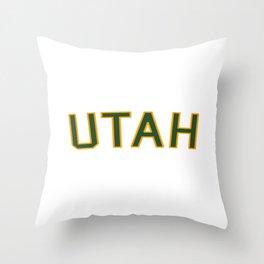 Utah Sports College Font Throw Pillow