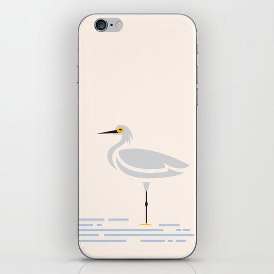 Snowy Egret iPhone & iPod Skin