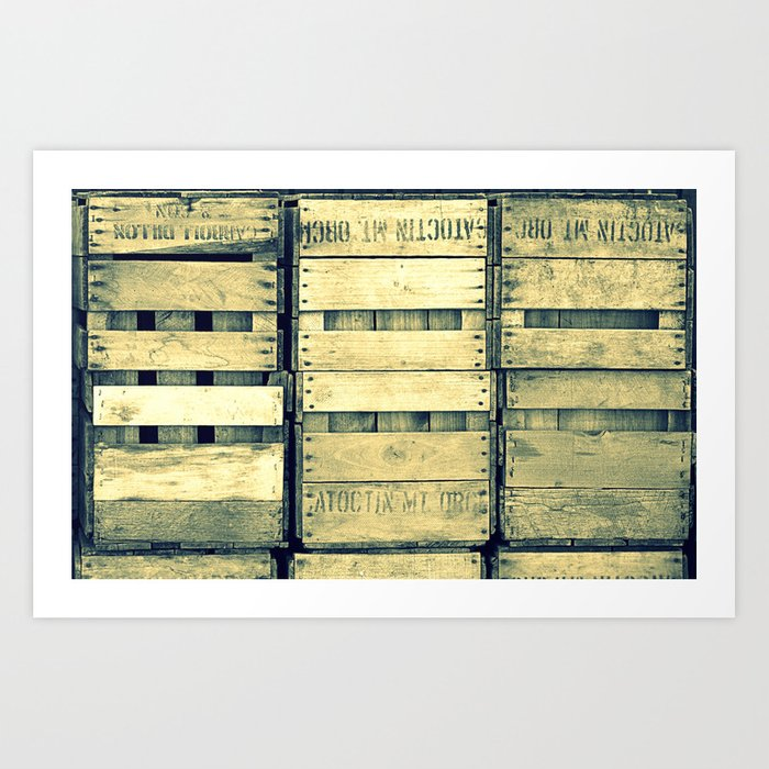 Apple Crate Wooden Texture Art Print