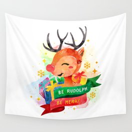 Be Rudolph Wall Tapestry