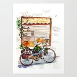Autumn windows Art Print