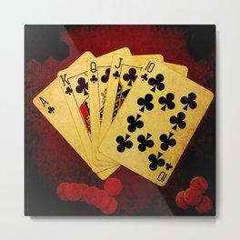Escalera Real de Trebol (Dirty Poker) Metal Print