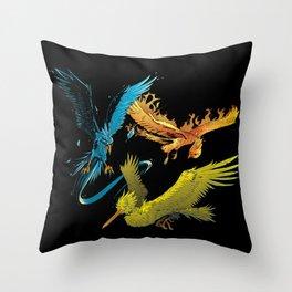 The Three Legendary Birds Throw Pillow