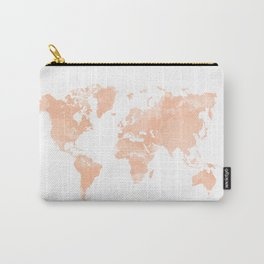 World Map Peach Carry-All Pouch