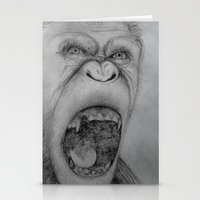 planet of the apes Stationery Cards featuring Planet of the Apes Pencil Drawing by Lucas Lepski