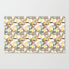spring breakfast pattern Canvas Print