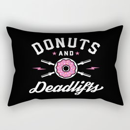 Donuts And Deadlifts Rectangular Pillow