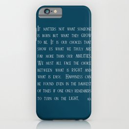 Dumbledore wise quotes iPhone Case