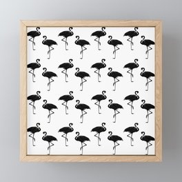 Flamingo Silhouettes Pattern Framed Mini Art Print