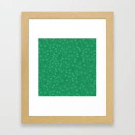 Soft & Fuzzy (Green) Framed Art Print