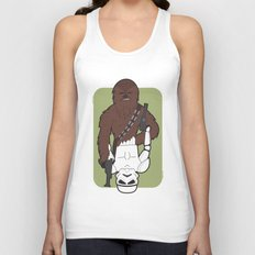 Chewbacca and Stormtrooper Unisex Tank Top