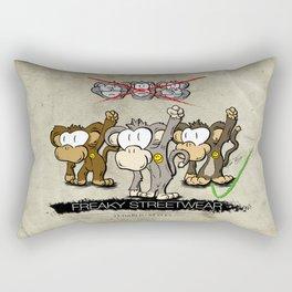 Protest Monkeys Rectangular Pillow