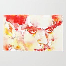 FEDERICO GARCIA LORCA - watercolor portrait Rug