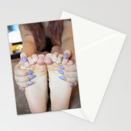 Lilac Toes & Stiletto Nails Stationery Cards