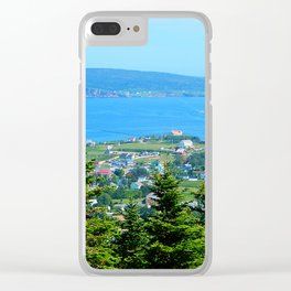 Bonaventure Island panoramic Clear iPhone Case