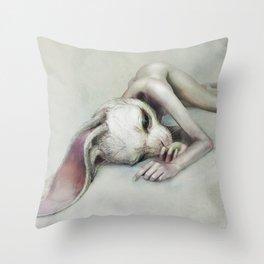rabbit_4 Throw Pillow
