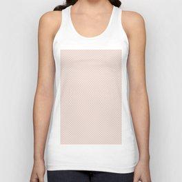 Modern pastel brown white elegant lace pattern Unisex Tank Top