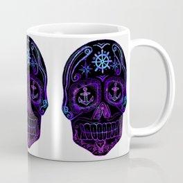 Black Nautical Sugar Skull Coffee Mug