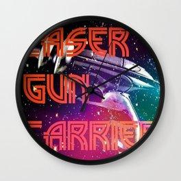 Laser Gun Carrier Wall Clock