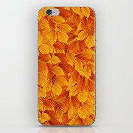 Autumn leaves #3 iPhone Skin