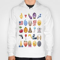 emoji Hoodies featuring Emoji  by rivercbishop