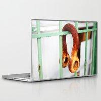 headphones Laptop & iPad Skins featuring Steel Headphones  by Sandiest Photography