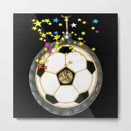 All Star Soccer Medal Metal Print