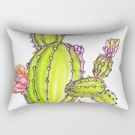 Happy Cactus Rectangular Pillow