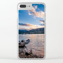 Sunset at Lake Wanaka, New Zealand Clear iPhone Case