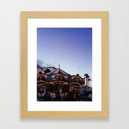 Belmont Park Carousel Framed Art Print