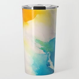 Costal Bright Summer Beach Abstract Travel Mug