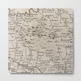 Map of Persia, 1701 Metal Print