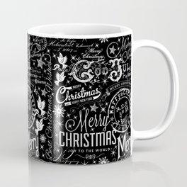 Black and White Christmas Typography Design Coffee Mug