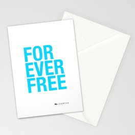 RX - FOREVER FREE - BLUE Stationery Cards