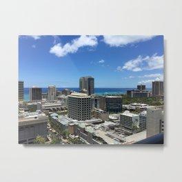 City Ocean Metal Print