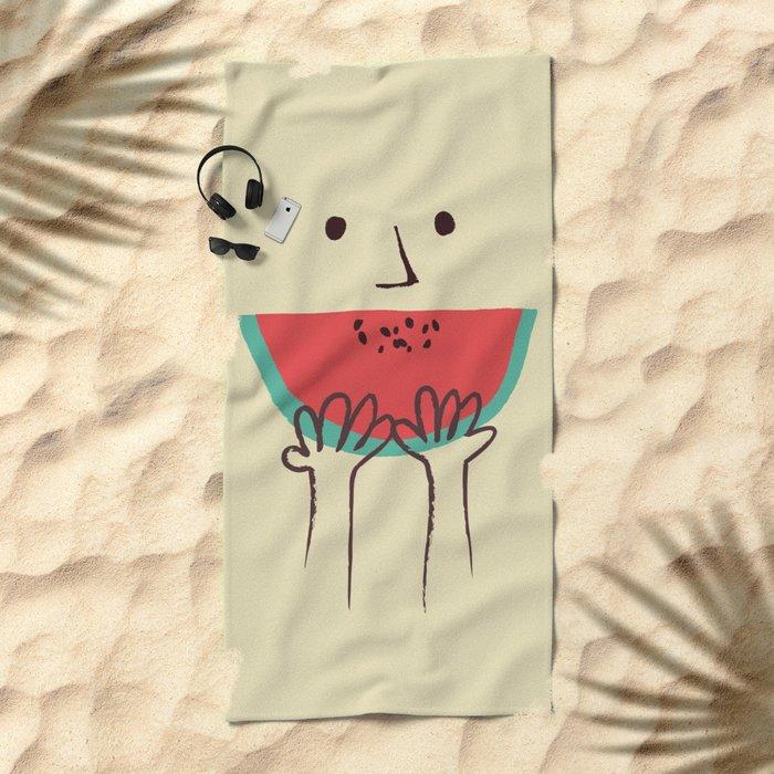 Summer smile Beach Towel