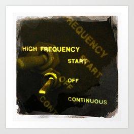 high frequency Art Print