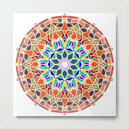 philosophy astrology and spirituality mandala Metal Print