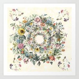 Circle of Life Cream Art Print