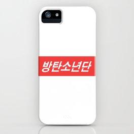 BTS Hangul Bangtan Boys red iPhone Case