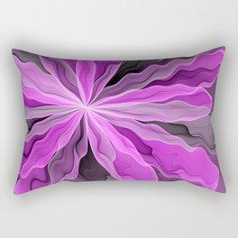 Abstract With Magenta, Modern Fractal Art Rectangular Pillow