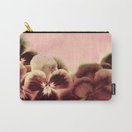 vintage tones pansies Carry-All Pouch