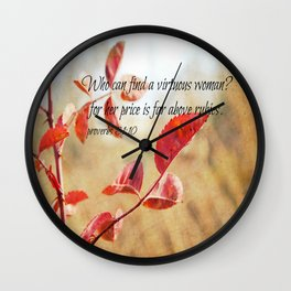 Virtuous Woman Proverbs Wall Clock