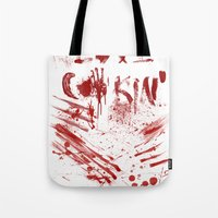 cooking Tote Bags featuring Love cooking by Poizon Poizon